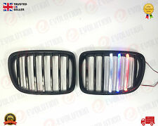 BMW X1/E84 FRONT GRILLE M3 LOOK STYLE  WITH COLOUR LED LIGHTS 2009