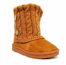 Wholesale lot 36 pairs Big Kid's 2 Button Knitting Boot Fashion Shoes--285K