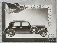 AUSTIN GORDON MODELS Car Sales Brochure 1936 IMPERIAL Royal ELF Comet AMBASSADOR