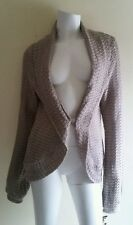 INC INTERNATIONAL CONCEPTS Taupe Chunky Knit Cardigan Sweater sz L NWT *Defect