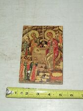 OLD VINTAGE RELIGIOUS WOODEN PLAQUE TRANSFIGURATION MONASTERY #15757 ??