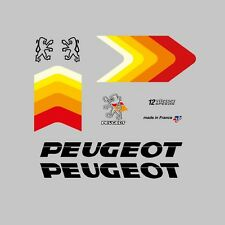 Peugeot Set of Bicycle Frame Stickers - Decals - Transfers - n.31