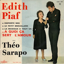 45TRS VINYL 7''/ FRENCH EP EDITH PIAF / THEO SARAPO / A QUOI CA SERT L'AMOUR