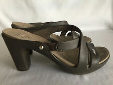 Crocs Brown Platform Sandal Heels Womens Shoes Size 8 Medium