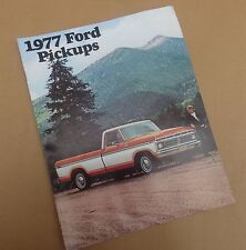 1977 FORD PICKUP TRUCK SALES BROCHURE & CATALOG- Ranger- F150- F250- F350