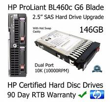 "146GB HP ProLiant BL460c G6 10K Dual Port DP 2.5"" SAS Hard Drive (HDD) Upgrade"