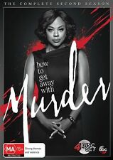 How To Get Away With Murder : Season 2 (DVD, 2016, 4-Disc Set) New & sealed