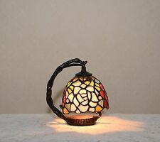 Flower Stained Glass Tiffany Style Small Table Desk Lamp Night Light