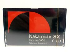 NAKAMICHI SX-C 60 BLANK AUDIO CASSETTE TAPE NEW ULTRA RARE 1979 YEAR JAPAN MADE