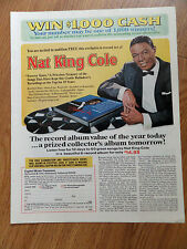 1968 Free 6 Record Set Sweepstakes Ad    Nat King Cole  Forever Yours