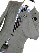 BNWT TAILOR-MADE PAUL SMITH LONDON GREY FINE PRINCE OF WALES CHECK SUIT 36R W30