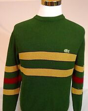 Vintage IZOD LACOSTE  Size Medium ,Mercerized Cotton Crew Neck Sweater,Stripe