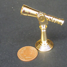 1:12 Adjustable Metal Telescope On A Stand Dolls House Miniature 4.5cm Accessory