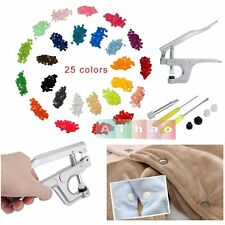350 Set T5 Plastic Resin KAM Snaps Buttons Press Stud Fastener Snap Pliers Tool