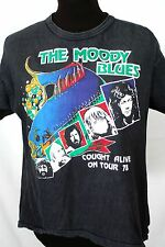 Vtg 1978 70s THE MOODY BLUES COUGHT ALIVE ON TOUR T SHIRT Small Concert ROCK