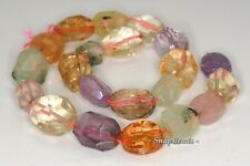 18X13-10X9MM  MIX QUARTZ GEMSTONE FACETED NUGGET LOOSE BEADS 7""