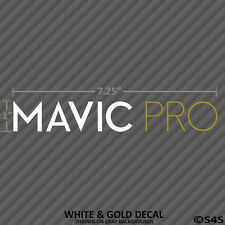 DJI Mavic Pro Decal Matte White and Gold Drone Quadcopter Sticker