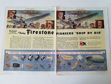 1942 Firestone Tires Pioneers Ship By Air Original Print Ad