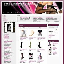 Established Women Socks Work at Home Online Store Business Website For Sale!