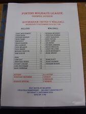 08/09/2004 Rotherham United riserve V Walsall riserve [Bianco, nessun prezzo] (sing