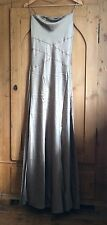 Monsoon 100% Silk Beaded Long Evening/Wedding/Party Dress - Size 12 (40)