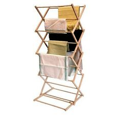 Wooden Wood Folding Airer Drying Rack Laundry Hanger Clothes Driers Horses Dryer