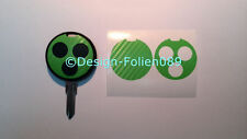 Carbon verde lámina decorativa clave key Smart convertible AMG fortwo 450 Brabus Coupe