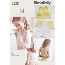 SIMPLICITY SEWING PATTERN MADALYNNE MISSES' SOFT CUP BRAS & PANTIES 8228
