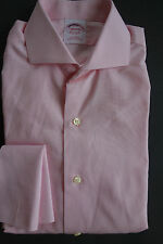 NWT Brooks Brothers Non Iron Pink Spread Collar Shirt 14-31 Slim  MSRP $180