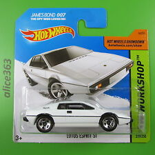 HOT WHEELS 2015 - Lotus Esprit S1 weiß  -  James Bond 007  - 219 -  neu in OVP