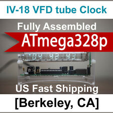 SALE! ASSEMBLED, Ready To Use, Upgraded to ATmega328p Ice Tube Clock  IV-18 VFD