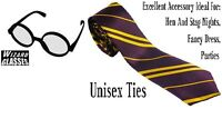 Harry Potter Hogwarts School Design Tie &/OR Wizard Glasses Fancy Dress hen stag