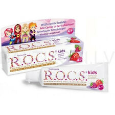 R.O.C.S Kid's Raspberry & Strawberry Toothpaste Age 4 - 7 45 ml / 1.6 fl oz