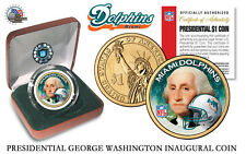 MIAMI DOLPHINS NFL USA Mint PRESIDENTIAL Dollar Coin IN VELVET BOX AND COA *NEW*