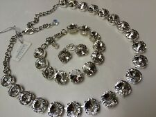 3pc jewelry set Swarovski crystal elements Necklace Bracelet Earring Clear NEW