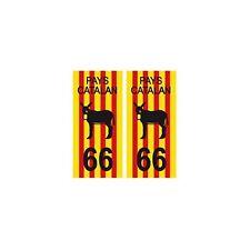 66 pays catalan burro fond drapeau autocollant plaque droits