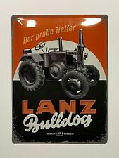 Lanz Bulldog Tractor - Tin Metal Wall Sign