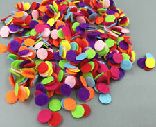 200pcs MINI Mixed Colors Appliques Die Cut Felt Circle Cardmaking decoration 8mm
