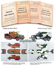 7 Restricted WW2 War Dept Manuals CAMOUFLAGE of VEHICLES, WEAPONS, INSTALLATIONS