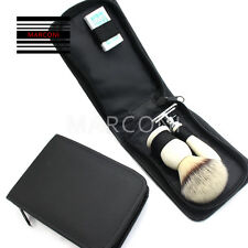 Luxury Travel  Traditional Wet Shaving Kit with Safety Razor and Shaving Brush