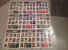 9 different New York Jets & Giants official sticker sheets from New York Post