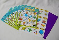NEW PARTY BINGO FOR KIDS CHILDREN inc 8 CARDS PICTURE CARDS MARKERS