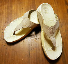 FitFlop Oasis Sandals 026-031 Stone Suede Upper Fit Flop Womens 9 GREAT SHAPE!