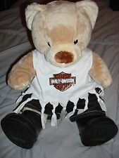 Build a Bear Harley Davidson Dressed Bear Harley Davidson Shirt Jeans and Boots