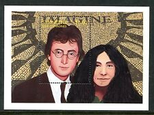 SAINT VINCENT 1995 JOHN LENNON - YOKO ONO - IMAGINE - BEATLES SOUVENIR SHEET!