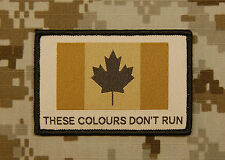 Canadian These Colours Don't Run Woven Patch JTF2 CADPAT Arid Canada Strong