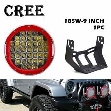 9inch Car LED Work Light 185W Driving Fog Lamp Red for JEEP 4WD SUV Off-road