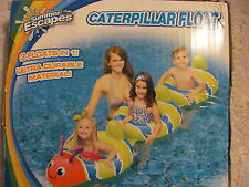 SWIMMING POOL INFLATABLE CATERPILLAR 3 FLOATS IN 1 Size 98 x 30
