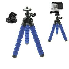 GOPRO HERO 5 4 SESSION 3+ 3 2 BLUE FLEXI OCTO TRIPOD GRIP & GO PRO MOUNT ADAPTER