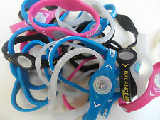 "10 SILICONE WRISTBANDS ""BALANCE POWER"""